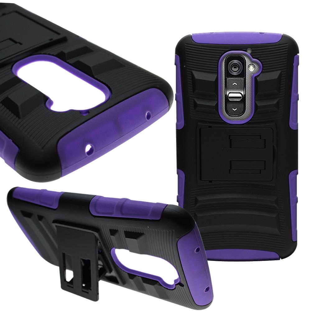 For LG G2 D802 Holster Cover Hybrid Case