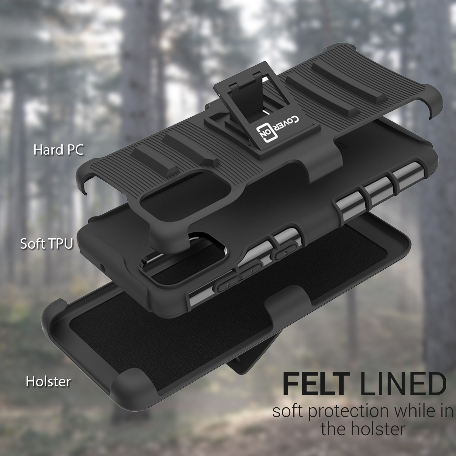 For Maxwest Orbit 6200 Hard Soft Tough Hybrid Stand Dual