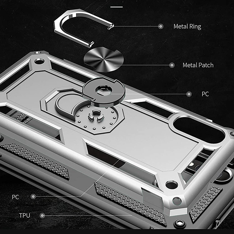 For BLU Dash 4.0 - Vibrant Shock Proof Kickstand Hybrid Phone Cover ...