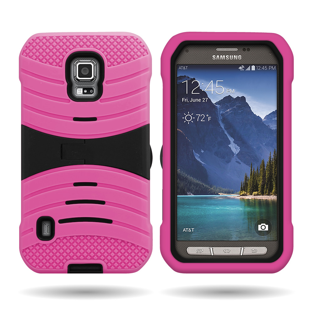 For Samsung Galaxy S5 Active Dual Layer Hard Soft Hybrid ...