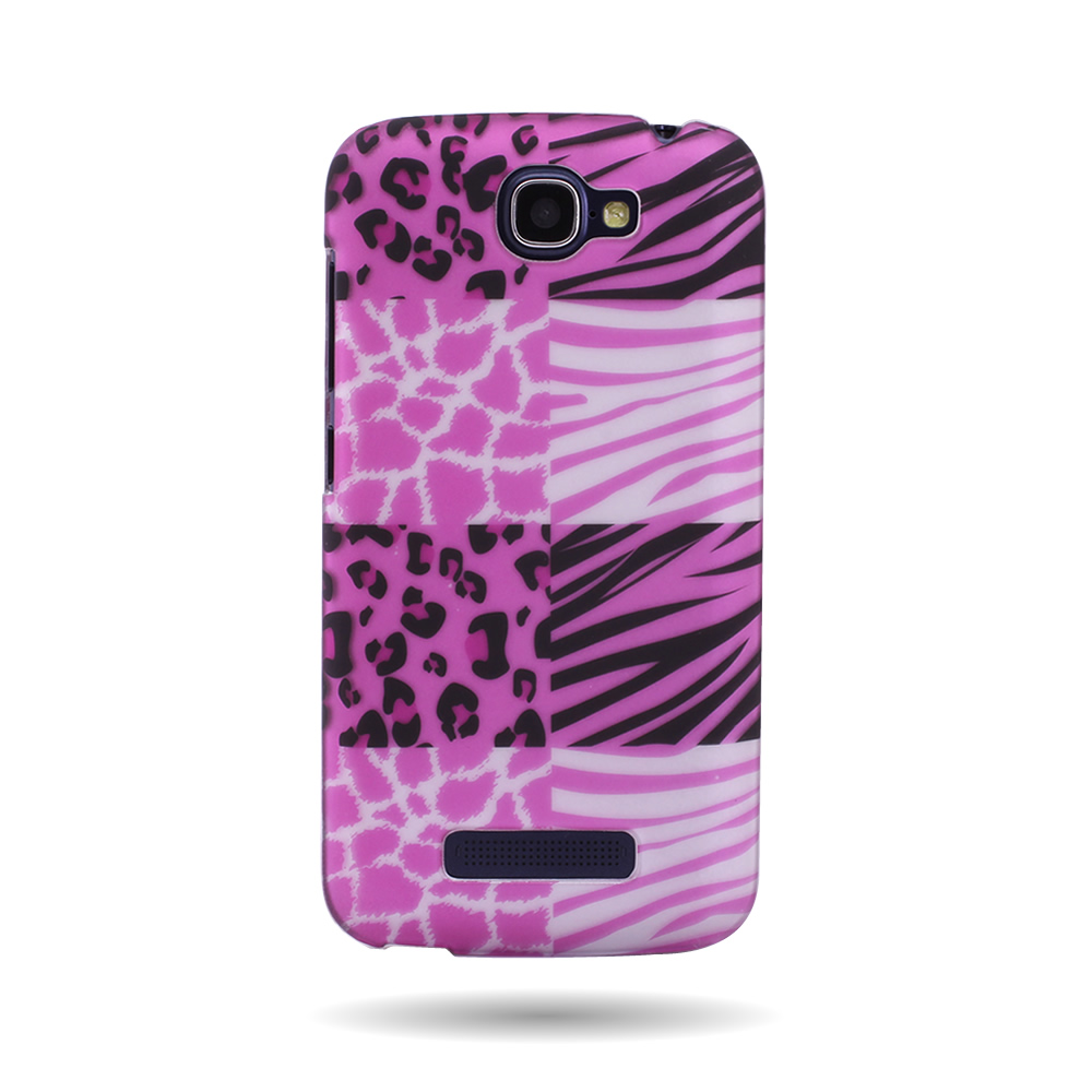 Pc hard plastic back design phone cover case for alcatel