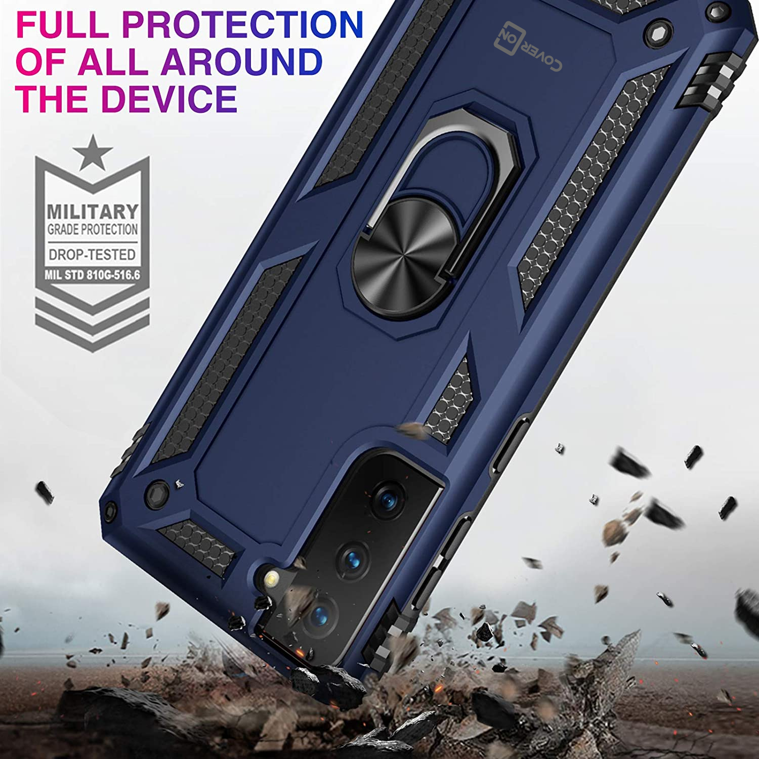 Hard-Hybrid-Phone-Case-Screen-Protector-For-Kyocera-Hydro-Icon-Hydro ...