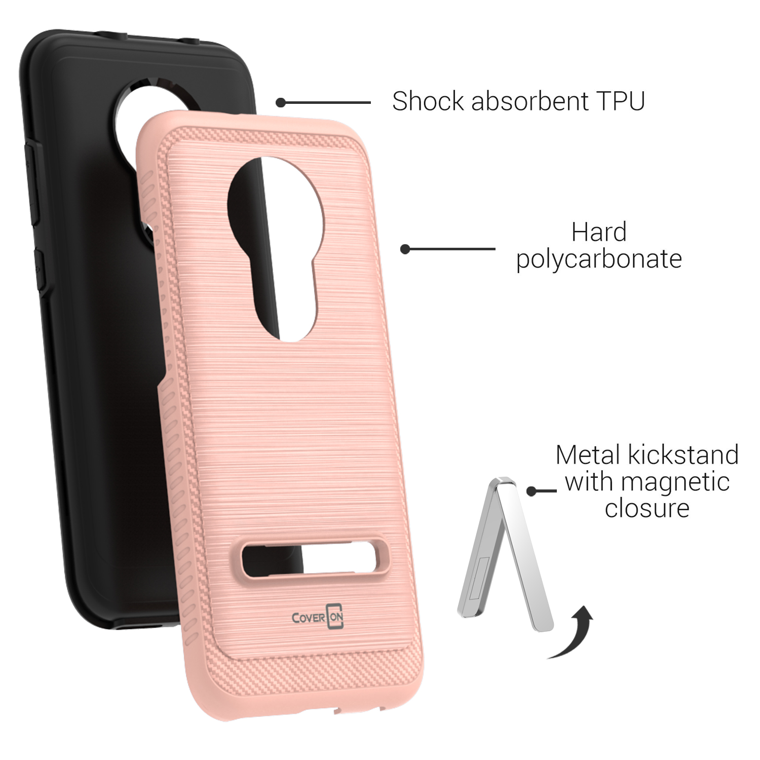 Snap on design hard phone cover case for alcatel one touch