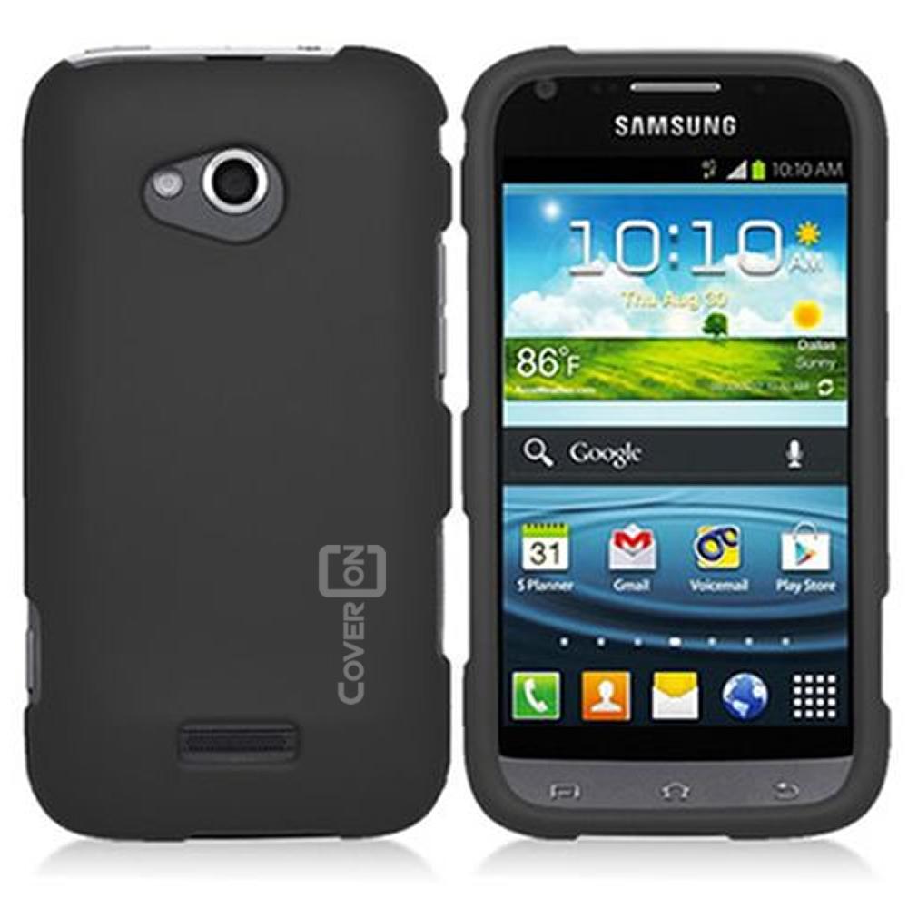 Hard Rubberized Matte Black Cover Case for Samsung GALAXY ...