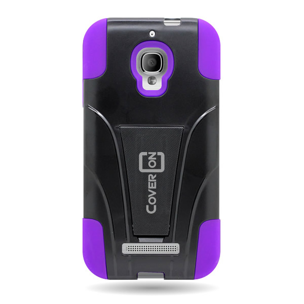 For Alcatel One Touch Fierce Hybrid Case [Two Layer Hard + Soft Covers ...