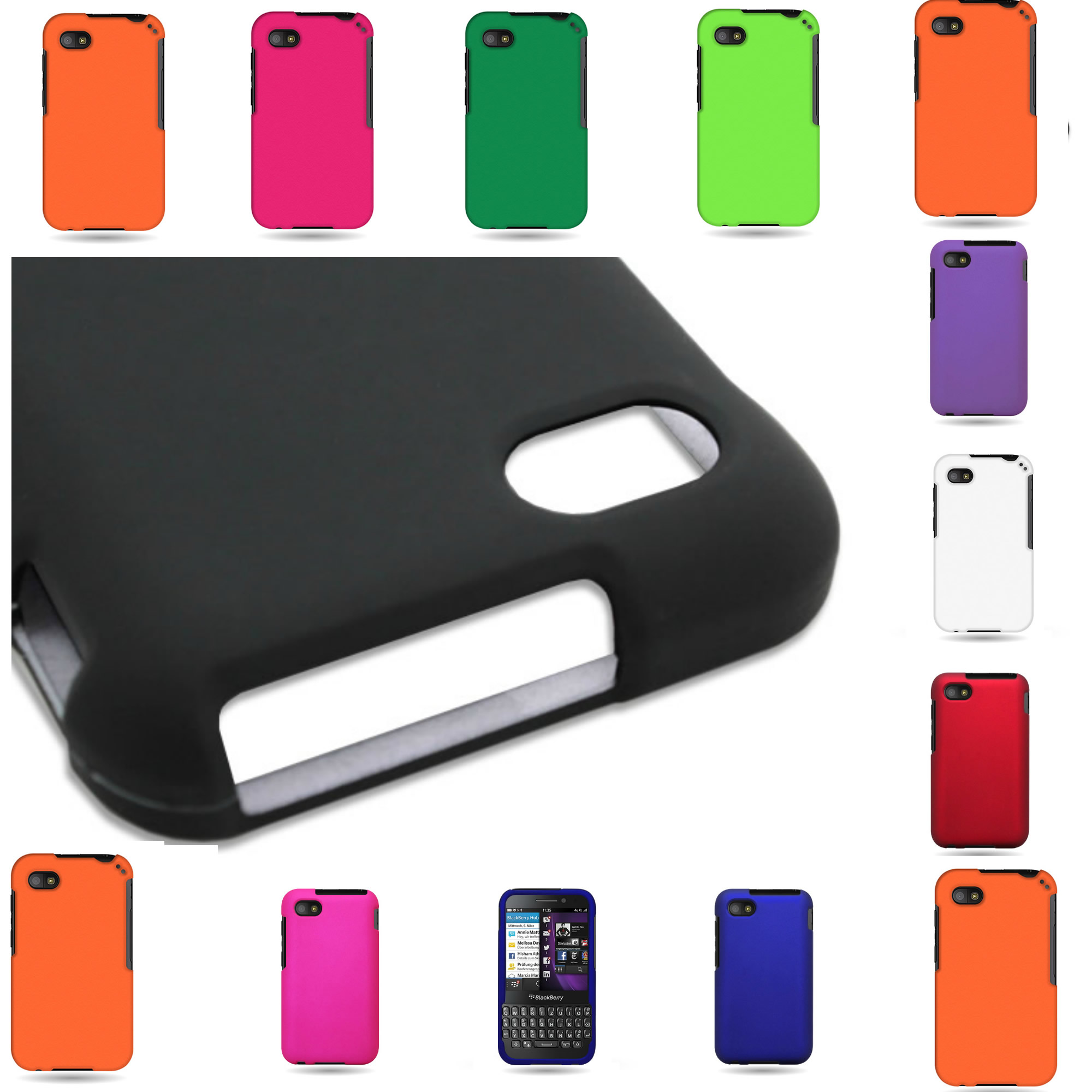 about Slim Hard Rubber Shell Phone Case Cover for Blackberry Q5